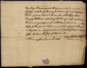 Letter from John Dickinson to William Young