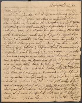 Letter from John Leamy to James Hamilton