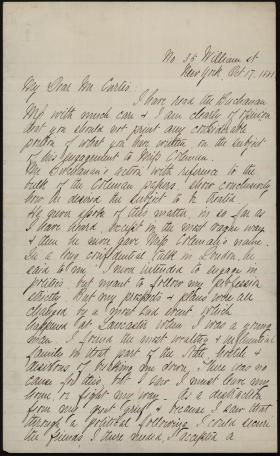 Letter from Samuel Barlow to George Curtis