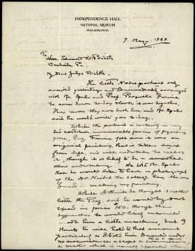 Letter from Horace Carpenter to Edward Biddle
