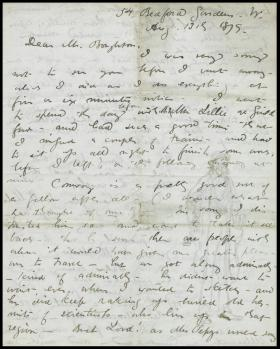 Letter from Edwin Abbey to George Boughton