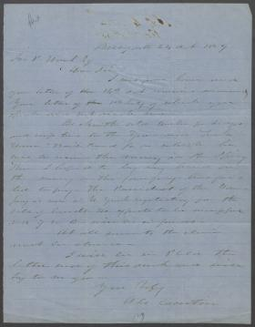 Letter from Andrew Curtin to John Hart