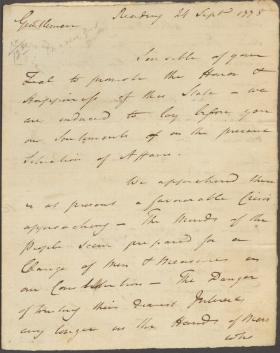 Letter Edward Biddle to Jasper Yeates and Matthias Slough