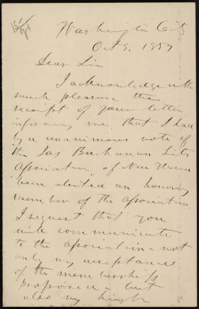 Letter from Howell Cobb to David Tompkins
