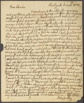 Letter from Mary Gurney to Charles Poulson