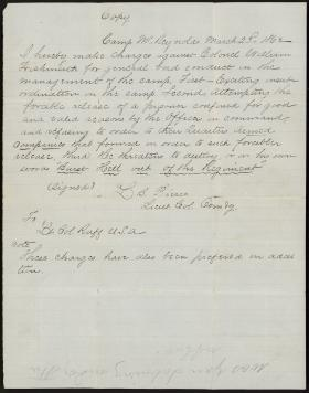 Letter from L. Pierce to C. Ruff (Copy)