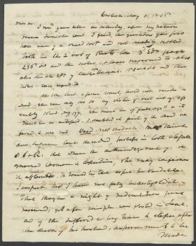 Letter from John Reed to John Brock