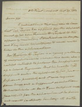 Letter from Roger B. Taney to Franklin Pierce