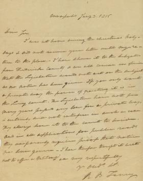 Letter from Roger B. Taney to Independent Gist