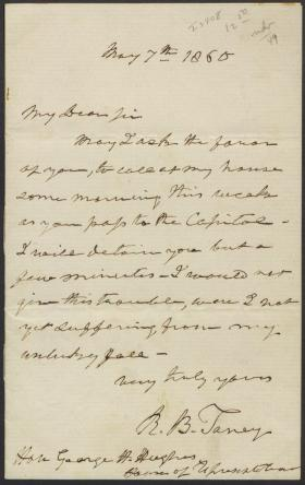 Letter from Roger B. Taney to George Hughes