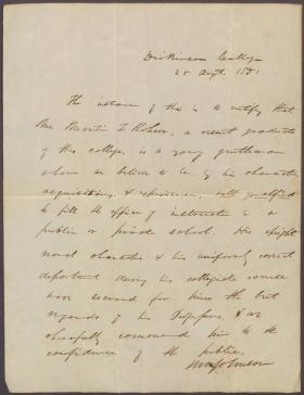 Letter from Herman Johnson to Unknown Recipient
