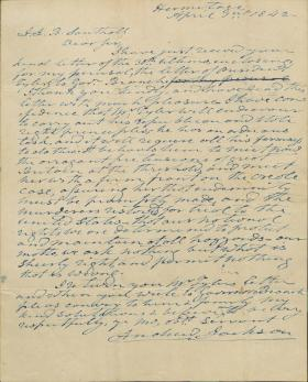 Letter from Andrew Jackson to J. Southall