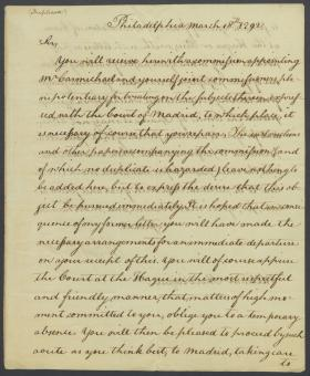 Letter from Thomas Jefferson to William Short (Copy)