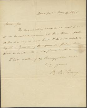 Letter from Roger B. Taney to Walter Jones | Dickinson College
