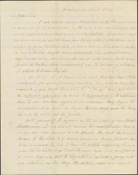 Letter from Henry A. P. Muhlenberg to John M. Read