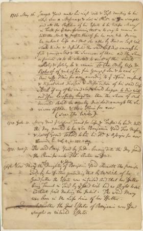 Legal Opinion of John Dickinson on Joseph Yard's Will