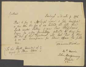 Letter from Thomas Walker to the Committee of Congress for Indian Affairs