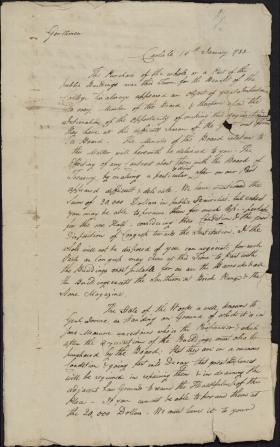 Letter from John Armstrong to William Bingham and William Irvine