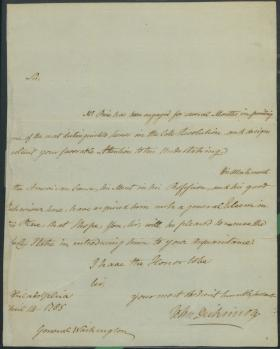 Letter from John Dickinson to George Washington