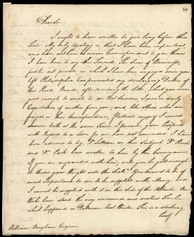 Letter from James Wilson to William Bingham