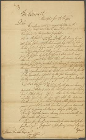 Letter from John Dickinson to Thomas Smith