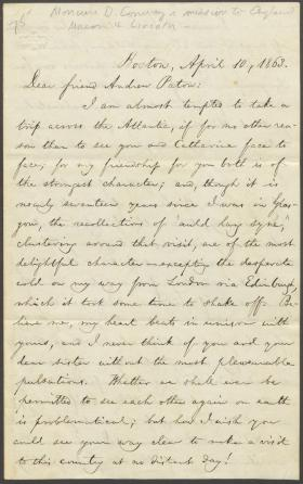 Letter from William Lloyd Garrison to Andrew Paton