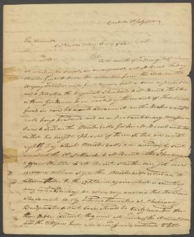 Letter from William Ramsey to Alexander Dallas
