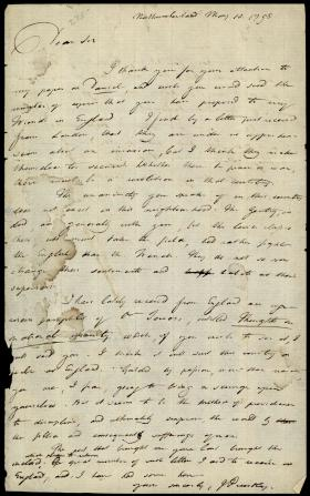 Letter from Joseph Priestley to George Thatcher