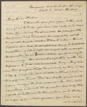 Letter from Roger B. Taney to Phoebe Campbell