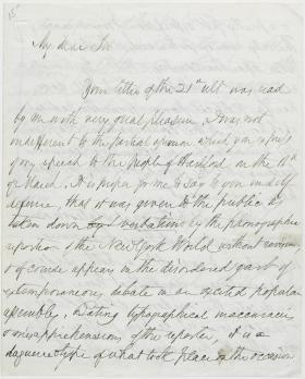 Letter from Isaac Toucey to Nahum Capen