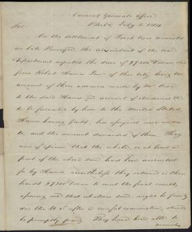 Letter from Callender Irvine to Alexander Dallas