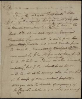 Letter from George Clymer to John Montgomery