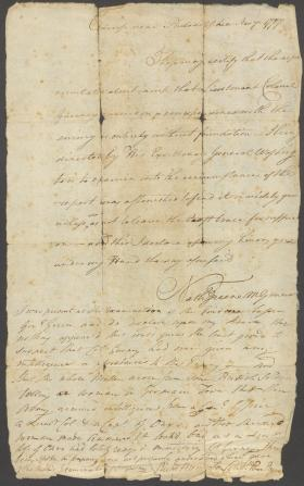 Letter from Nathanael Greene and Richard Humpton to Francis Gurney