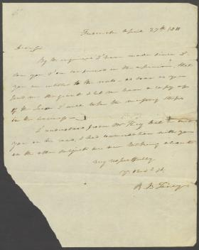Letter from Roger B. Taney to Joshua Gist