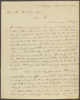 Letter from John Durbin to Johnston Armstrong