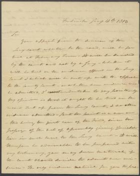 Letter from Roger B. Taney to Clotworthy Birnie