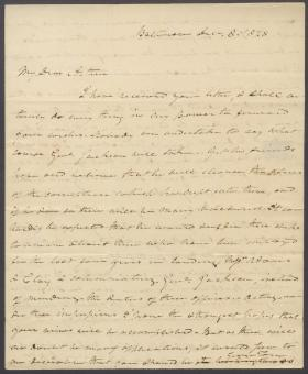 Letter from Roger B. Taney to Arthur Shaaff