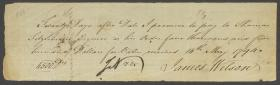 Promissory Note from James Wilson to Thomas Fitzsimons