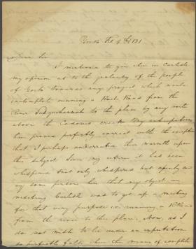 Letter from Thomas Hambly to James Hamilton