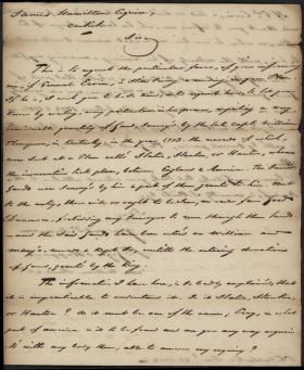 Letter from Joseph St. Leger d'Happart to James Hamilton