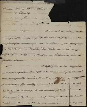 Letter from Joseph St. Leger d'Happart to James Hamilton
