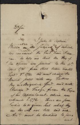 Letter from George Thompson to Robert Magaw