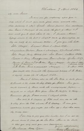 Letter from James Buchanan to James Henry
