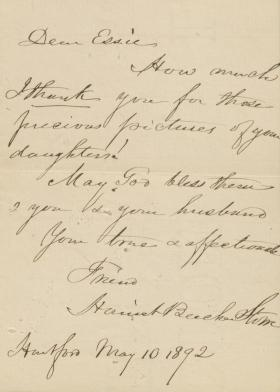 Letter from Harriet Beecher Stowe to Essie King