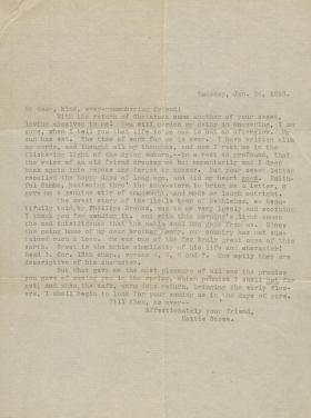 Letter from Harriet Beecher Stowe to Unknown Recipient