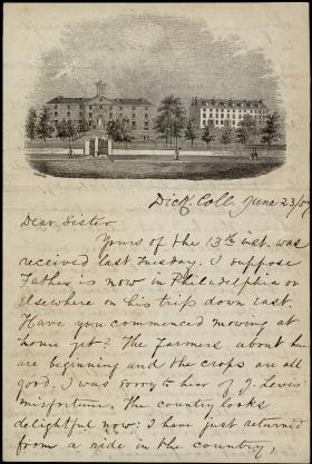 Letter from Thomas M. Griffith to His Sister