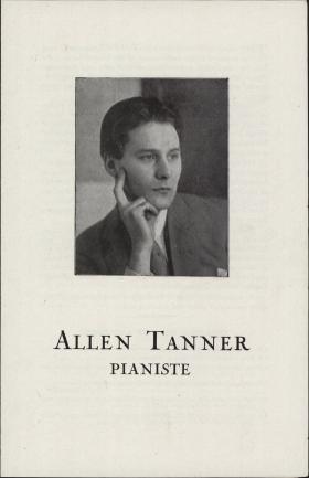 Allen Tanner Pianiste brochure