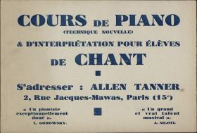 Cours de Piano advertisement