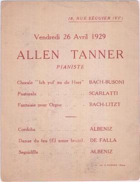 """Allen Tanner Pianiste"""