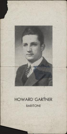 Howard Gartner, Baritone brochure